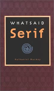Cover of: Whatsaid Serif