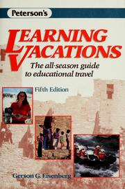 Learning vacations by Gerson G. Eisenberg