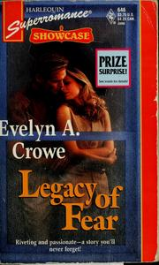 Cover of: Legacy of fear | Evelyn A. Crowe