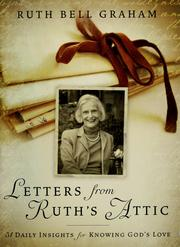 Cover of: Letters from Ruth's attic by Ruth Bell Graham