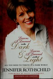 Cover of: Lessons I Learned in the Dark | Jennifer Rothschild