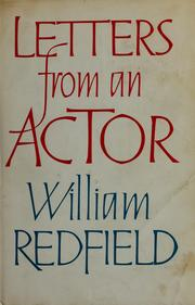 Letters from an actor by William Redfield