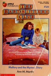 Cover of: Mallory and the Mystery Diary (The Baby-Sitters Club #29) | Ann M. Martin