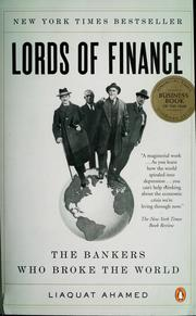 Cover of: Lords of finance | Liaquat Ahamed