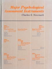 Cover of: Major psychological assessment instruments | Charles S. Newmark, editor.