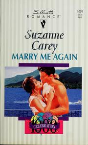 Cover of: Marry me again | Suzanne Carey