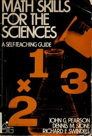 Cover of: Math skills for the sciences | John G. Pearson