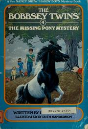 Cover of: The missing pony mystery | Laura Lee Hope