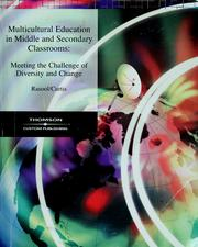 Cover of: Multicultural education in middle and secondary classrooms | Joan Rasool