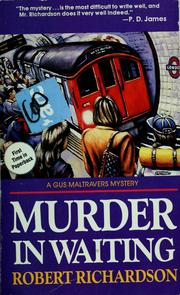 Cover of: Murder in waiting | Richardson, Robert