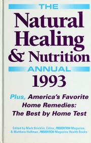 Cover of: The natural healing & nutrition annual 1993 | Mark Bricklin
