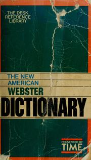 Cover of: The New American Webster dictionary | Noah Webster