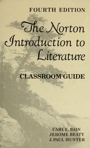 Cover of: Norton introduction to literature | Bain Carl E.