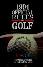 Cover of: The official rules of golf | United States Golf Association