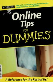 Cover of: Online tips for dummies | Tamara Castleman