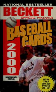 Cover of: The official 2000 price guide to baseball cards by James Beckett