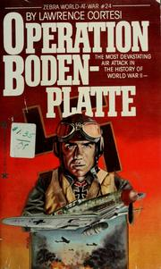 Cover of: Operation Bodenplatte | Lawrence Cortesi