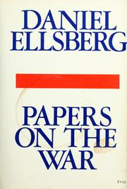 Cover of: Papers on the war