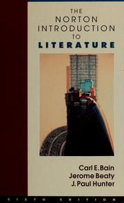 Cover of: The Norton introduction to literature |