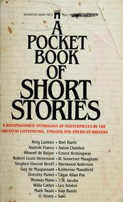 Cover of: A Pocket book of short stories | M. Edmund Speare