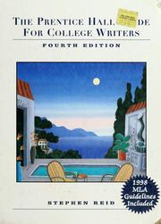 Cover of: The Prentice Hall guide for college writers by Stephen Reid