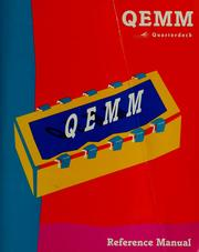 Cover of: QEMM Quarterdeck reference manual | Phillip Glosserman