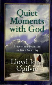 Cover of: Quiet Moments With God by Lloyd John Olgilvie