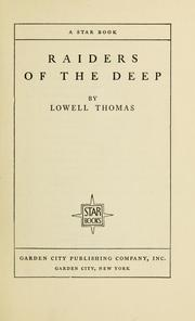 Cover of: Raiders of the deep | Thomas, Lowell