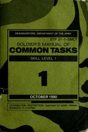 Cover of: Soldier's manual of common tasks | United States. Dept. of the Army.