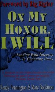 Cover of: On my honor, I will by Randy Pennington