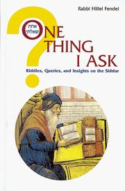 Cover of: One Thing I Ask