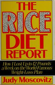 Cover of: The rice diet report | Judy Moscovitz