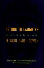 Cover of: Return to laughter | Elenore Smith Bowen