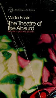 Cover of: The theatre of the absurd. | Esslin, Martin