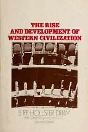 Cover of: The rise and development of Western civilization | John L. Stipp
