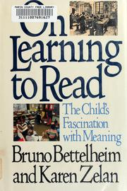 Cover of: On learning to read: the child's fascination with meaning