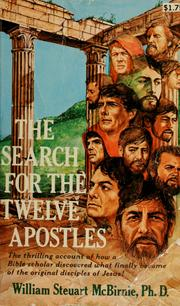 Cover of: Search for the twelve apostles | William Steuart McBirnie