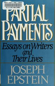 Cover of: Partial payments | Joseph Epstein