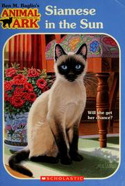 Cover of: Siamese in the Sun (Animal Ark Series #40) | Jean Little