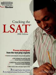 Cover of: Cracking the LSAT by Adam Robinson