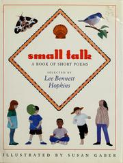 Cover of: Small talk |
