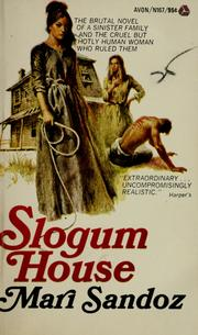 Cover of: Slogum House | Mari Sandoz