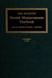 Cover of: The seventh mental measurements yearbook | Oscar Krisen Buros