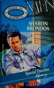 Cover of: Special touches | Sharon Brondos