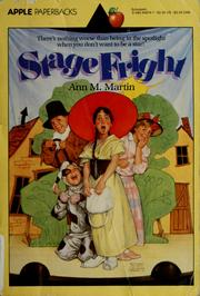 Cover of: Stage fright | Ann M. Martin