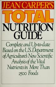 Cover of: Jean Carper's total nutrition guide | Jean Carper
