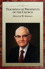 Cover of: Teachings of presidents of the church | Spencer W. Kimball