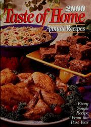 Cover of: Taste of home annual recipes, 2000 | Julie Schnittka