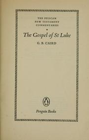 Cover of: Saint Luke | G. B. Caird