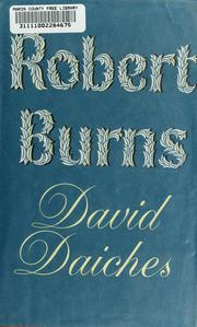 Cover of: Robert Burns | David Daiches